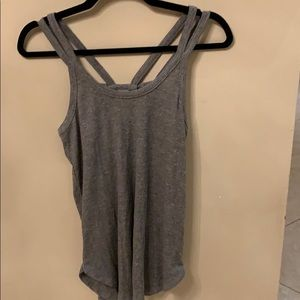 Chaser gray ribbed tank top